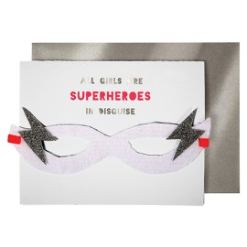 Carte postale Joyeux anniversaire Super-Héros fille Meri Meri