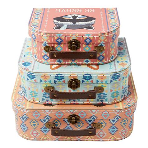 Set de 3 petites valises Aventure pour enfant Sass & Belle