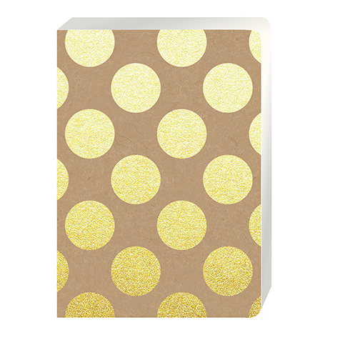 Cahier Large A5 Gold Polka Go Stationery