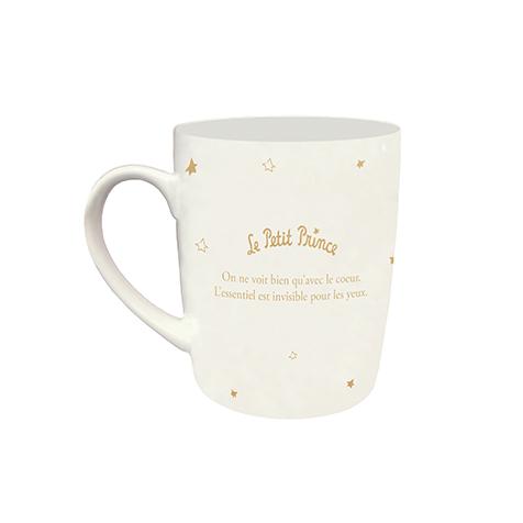 Mug en porcelaine fine dorée le Petit Prince Kiub
