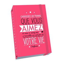 Notebook A6 Citation « Choisissez un travail »  Kiub
