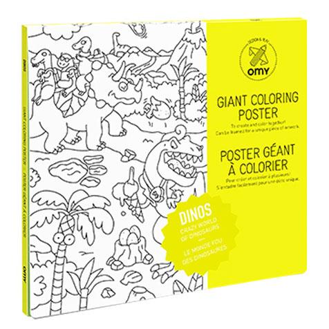 Poster géant à colorier Dinos Omy
