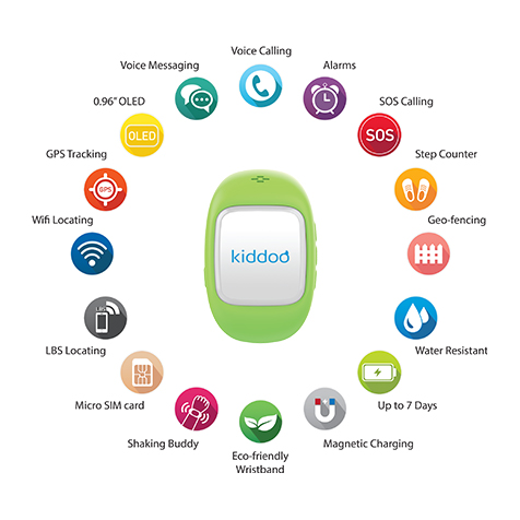 Montre connectée pour enfant verte Kiddoo