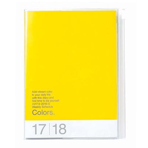 Agenda 2018 Colors A5 jaune Mark's