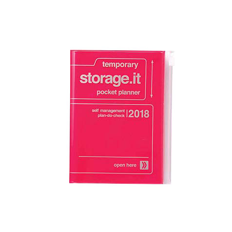 Agenda 2018 Storage.It A6 rose fluo Mark's
