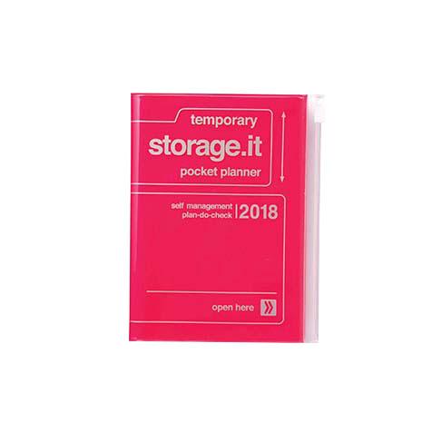 Agenda 2018 Storage.It A6 rose fluo Mark's