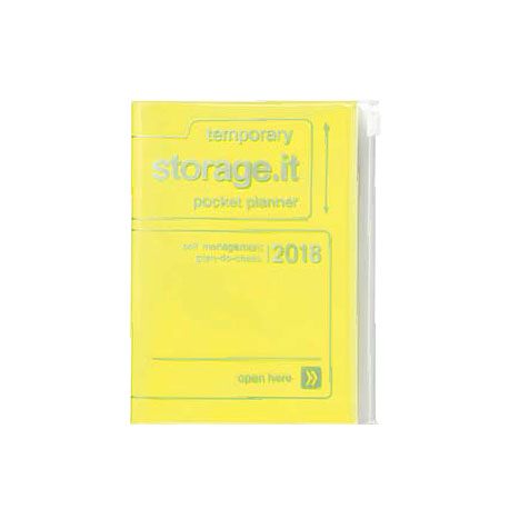 Agenda 2018 Storage.It A6 jaune fluo Mark's