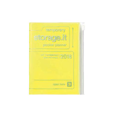 Agenda 2018 Storage.It A6 jaune fluo Mark's