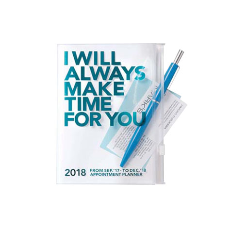Agenda 2018 Make Time A6 turquoise Mark's