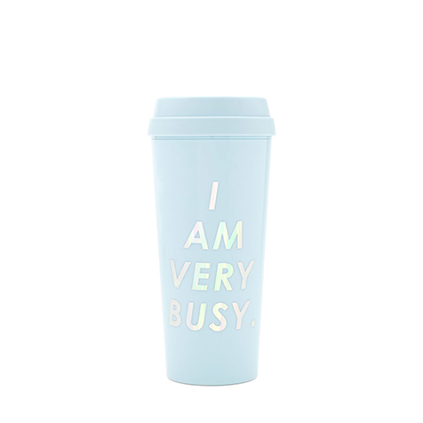 Mug I am very busy bleu Ban.do