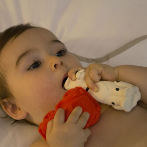 Jouet de bain Voiture Carlito orange Oli & Carol