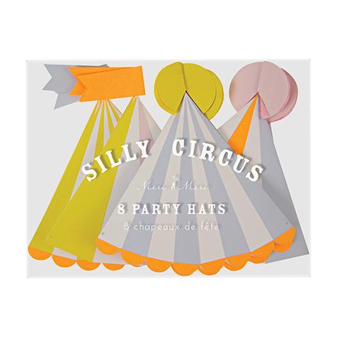 8 chapeaux Silly Circus Meri Meri