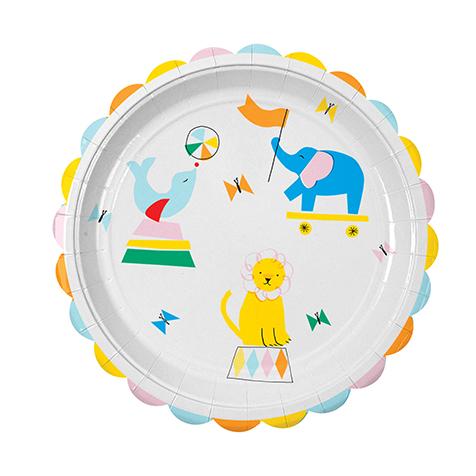 12 assiettes Silly Circus Meri Meri