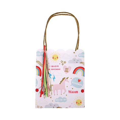8 sacs cadeaux arcs en ciel et licornes Meri Meri