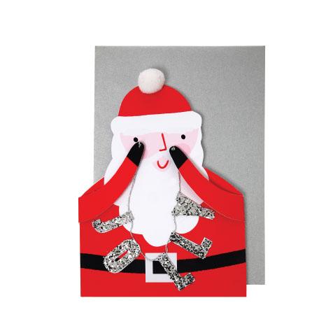 Carte postale Père Noël Meri Meri