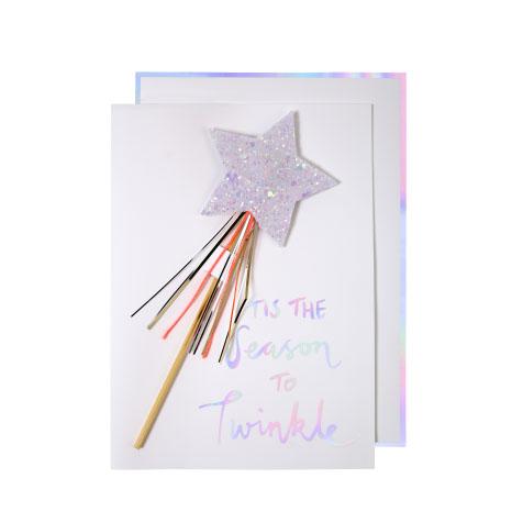 Carte postale baguette magique Meri Meri