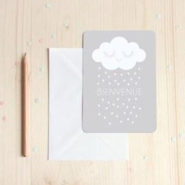 Carte postaleBienvenue gris Zü