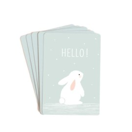 Lot de 10 mini cartes Hello bleu Zü