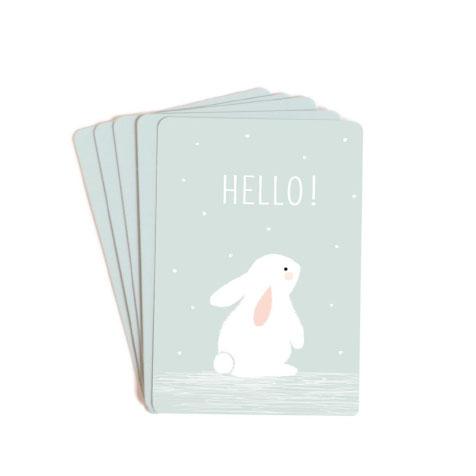 Lot de 10 mini cartes Hello bleu Zü