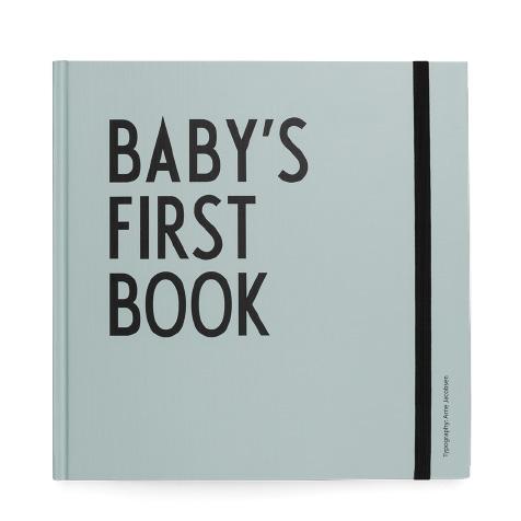 Livre de naissance Baby's first book bleu Design Letters