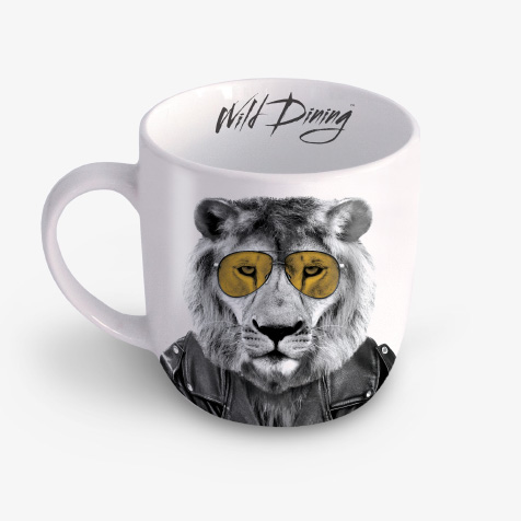 Mug wild dining Lary lion Just Mustard
