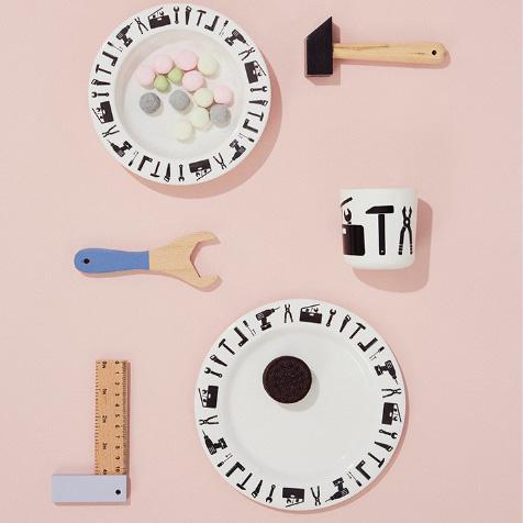 Set de repas Outils blanc Design Letters