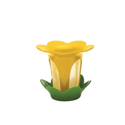 Filtre à thé Fleur avec soucoupe jaune Zak Designs