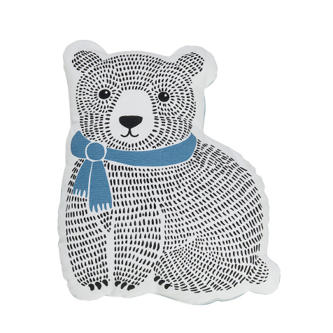 Coussin enfant ours bleu Bloomingville
