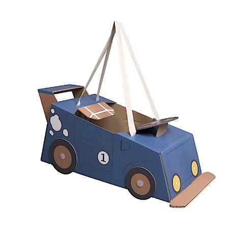 Déguisement en carton voiture bleu enfant Mister Tody