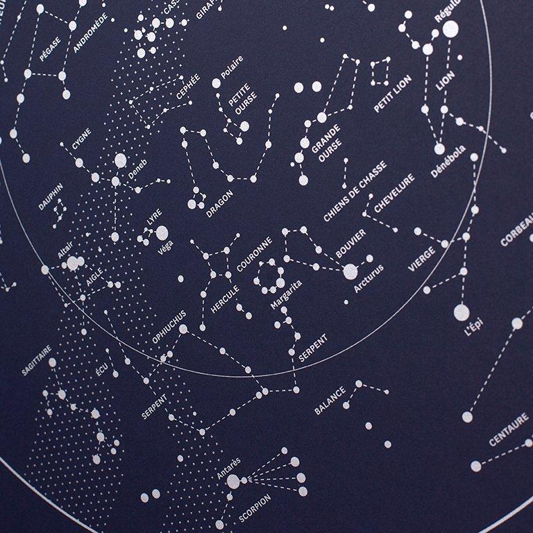Carte céleste bleu nuit YAY