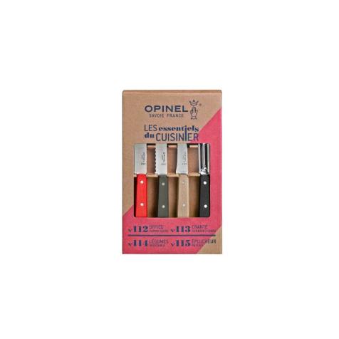 Coffret 4 couteaux Les Essentiels Loft bois Opinel