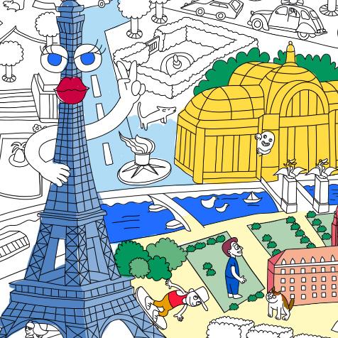Poster Géant Paris OMY
