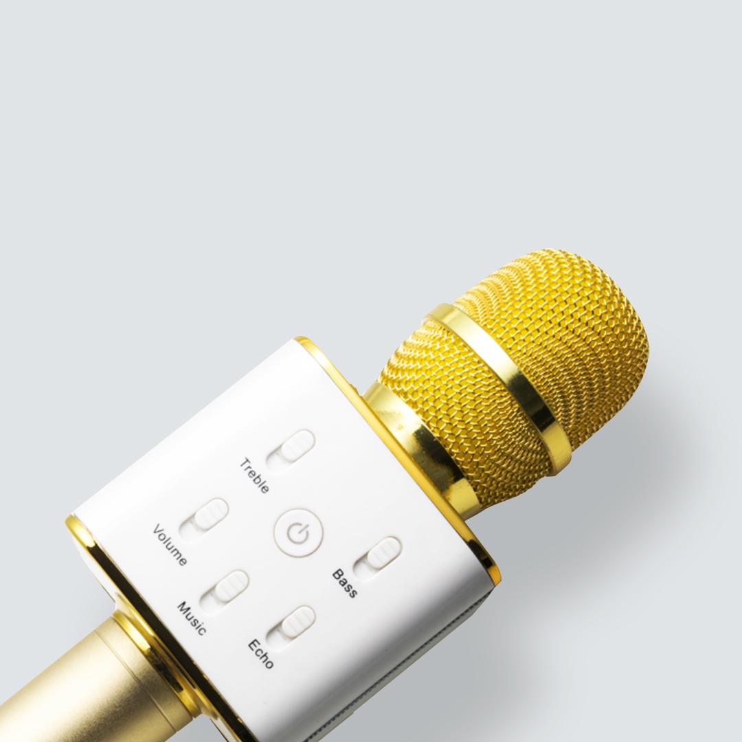 Micro de karaoké BT-X3I doré Music Man Technaxx