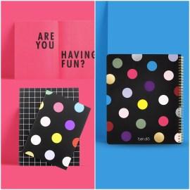 Kit de cahiers pois multicolore Ban.Do