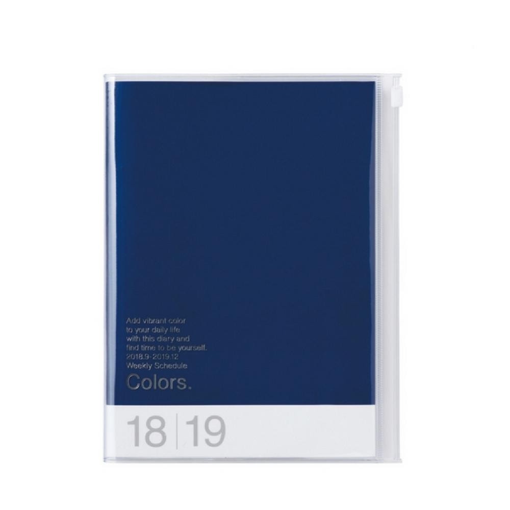 Agenda 2018-2019 Colors bleu A5 Mark's