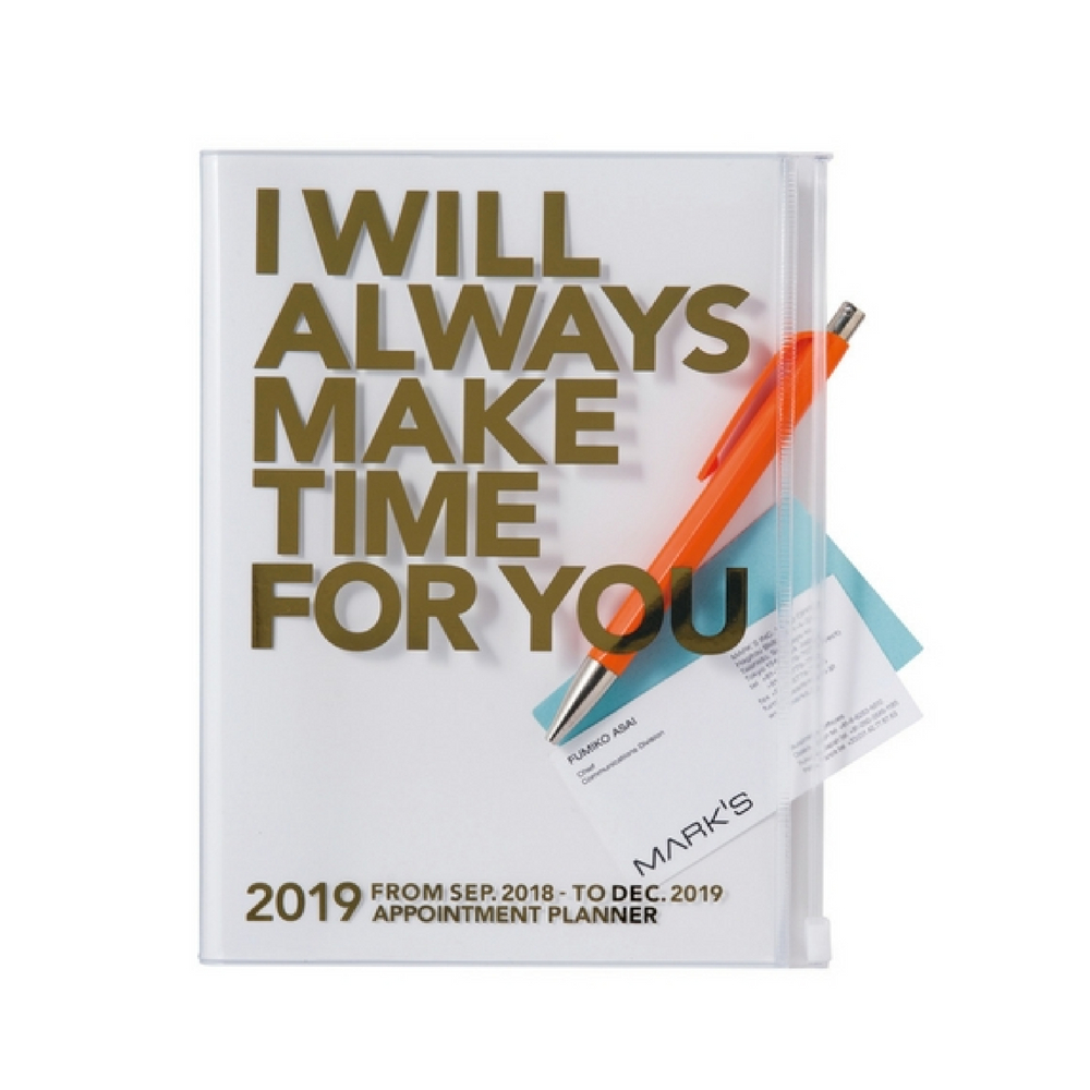Agenda 2018-2019 Make Time A5 doré Mark's