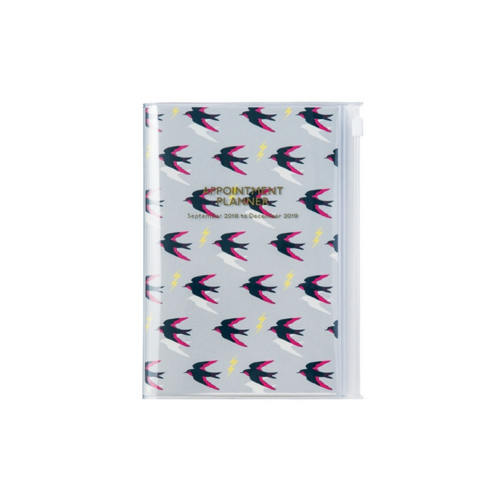 Agenda 2018-2019 Oiseaux B6 gris Mark's