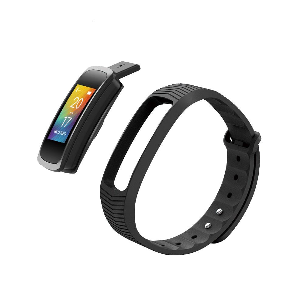 Bracelet Multi Fonctions Fit Bluetooth 4.0 noir Abyx