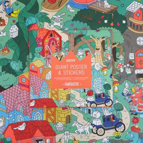 Poster géant à sticker + Autocollants FANTASTIC by OMY