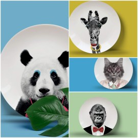 WILD DINING Collection Rock Set de 4 assiettes 23cm