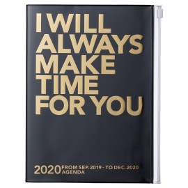 Agenda MARK'S JAPAN Clear Storage 2019-2020 - Always make time for you - Noir
