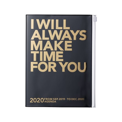 Agenda MARK'S JAPAN Clear Storage 2019-2020 A6 – Always make time for you – Noir