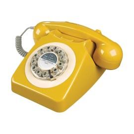 Téléphone vintage Série 746 Wild and Wolf (Jaune Moutarde)