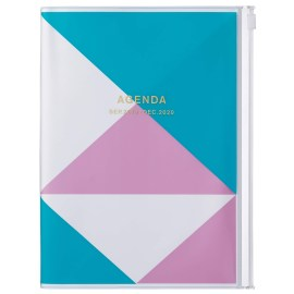 Agenda A5 MARK'S JAPAN Geometric Pattern 2019-2020 - Bleu