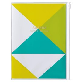 Agenda A5 MARK'S JAPAN Geometric Pattern 2019-2020 - Jaune