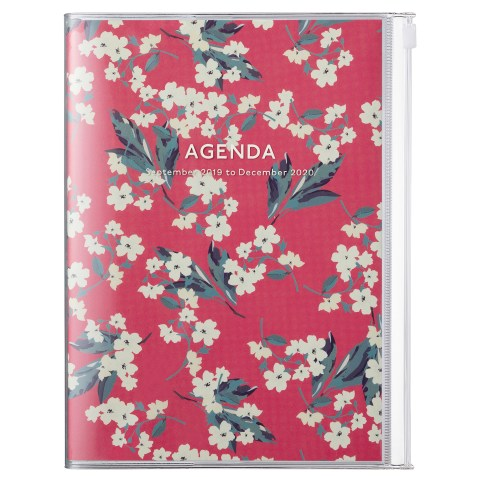 Agenda A5 MARK'S JAPAN Flower 2019-2020 – Rouge