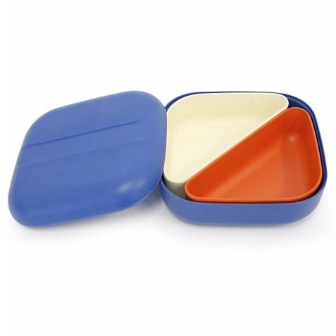 Lunch box EKOBO type Bento en fibre de bambou – Bleu