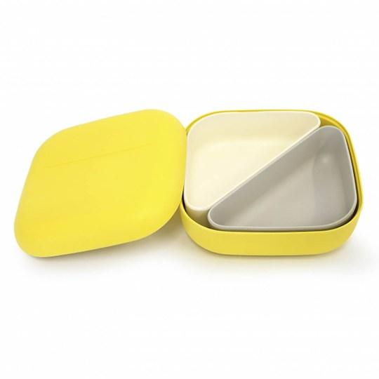 Lunch box EKOBO type Bento en fibre de bambou – Citron
