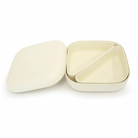 Lunch box EKOBO type Bento en fibre de bambou – Vanille