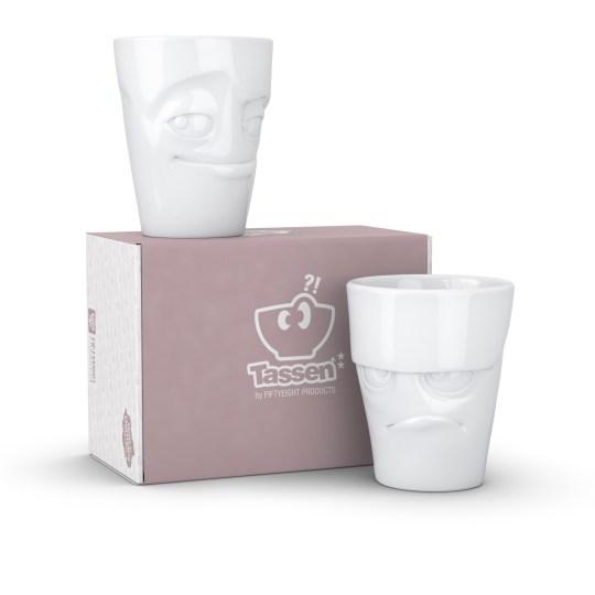 Set de 2 mugs Tassen de 350ml - Boudeur et Malicieux
